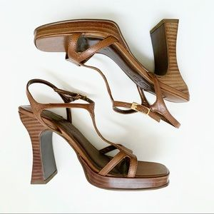 Y2K Chinese Laundry Brown Heels Sandals Size 6.5